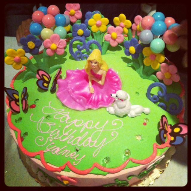 My 10 Year Old Nieces Barbie Birthday Cake From Konditor Meister