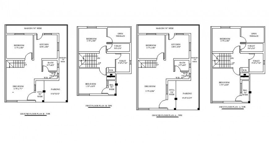 Residential House Working Plan Drawing In Autocad Format House Floor Plans Autocad Residential House