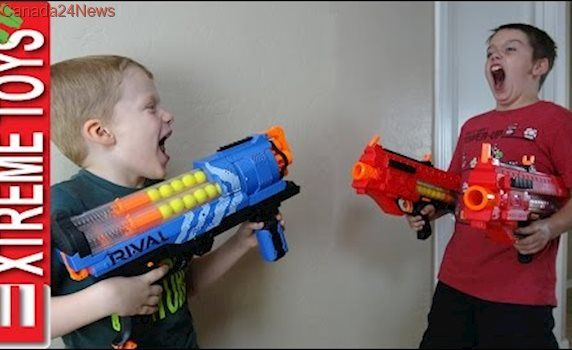 Nerf Gun Prank War Part Two! Ethan and Cole Play Tricks and Attack with Nerf