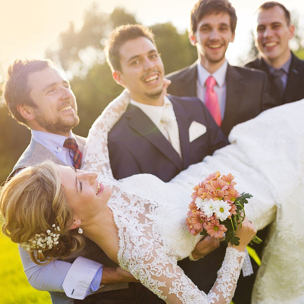 Watch a Bride Get LITERALLY Swept Off Her Feet by the