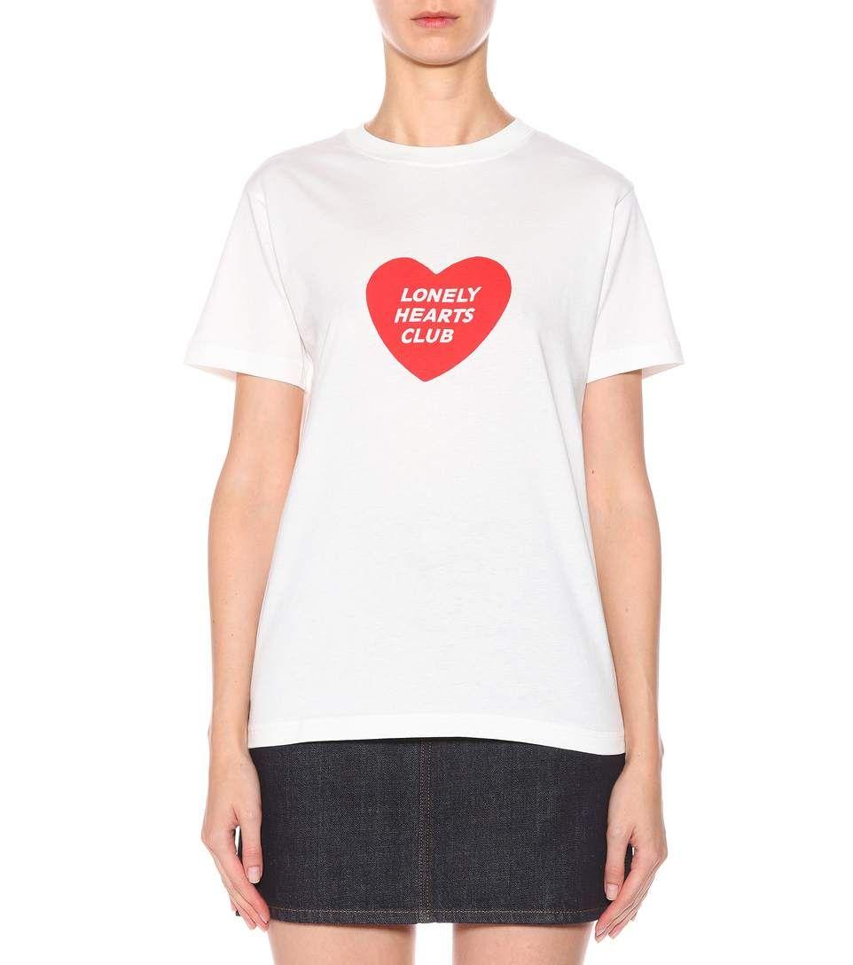 AlexaChung Heart print T-shirt zvryqcBp5