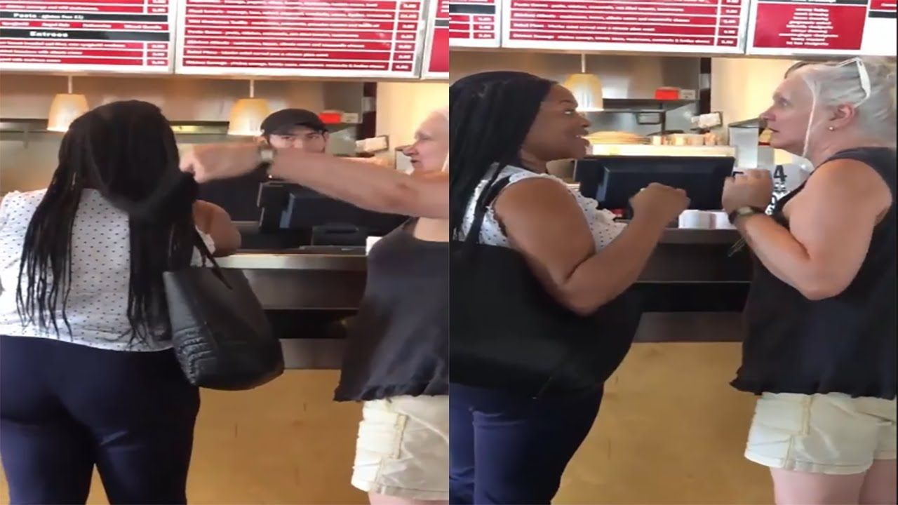 White Woman Abruptly Touched Black Woman S Hair While Ordering