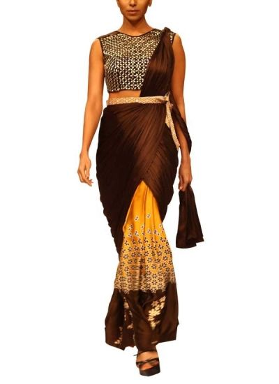 Amber Saree by Sougat Paul | strandofsilk.com - Indian Designers | Designer Sarees