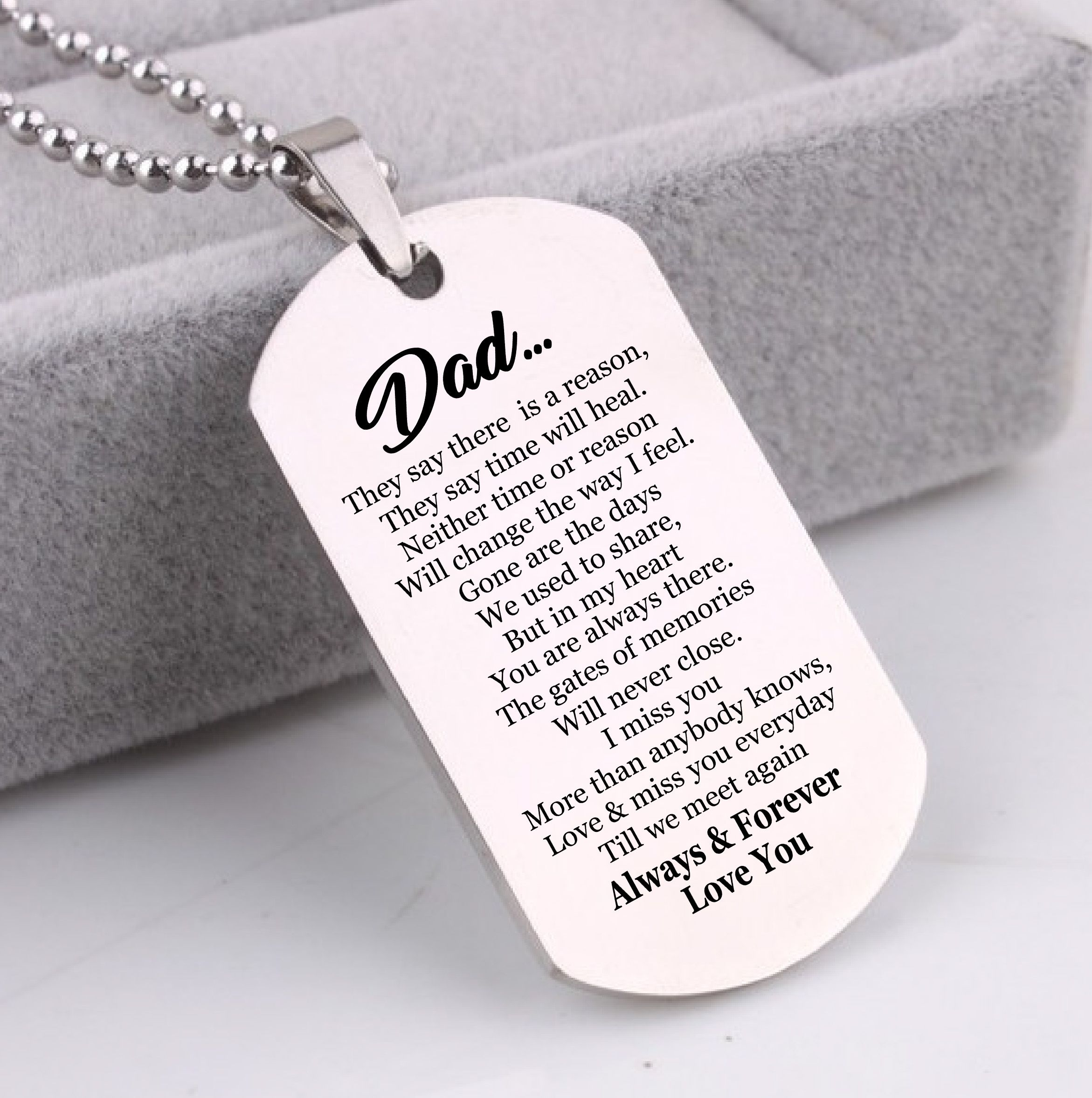 Dog Memorial Picture Dog Tags