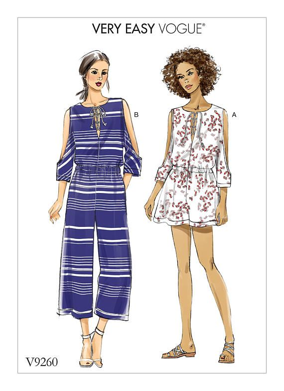 Vogue Sewing Pattern V9260 Misses\' Romper and Jumpsuit | Romper ...