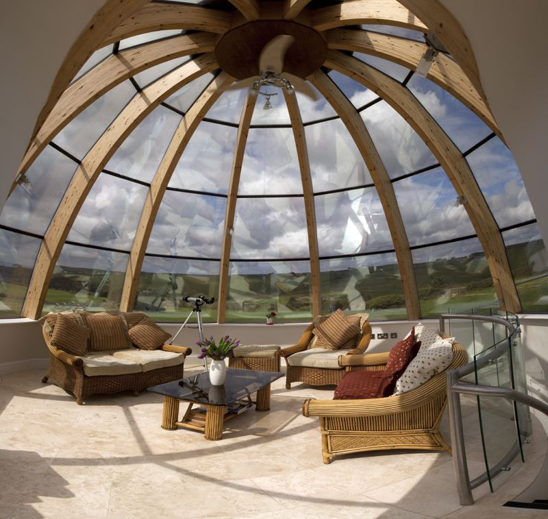 Dome House Futuristic: The Dome House Near Polzeath Is Available To Rent Through