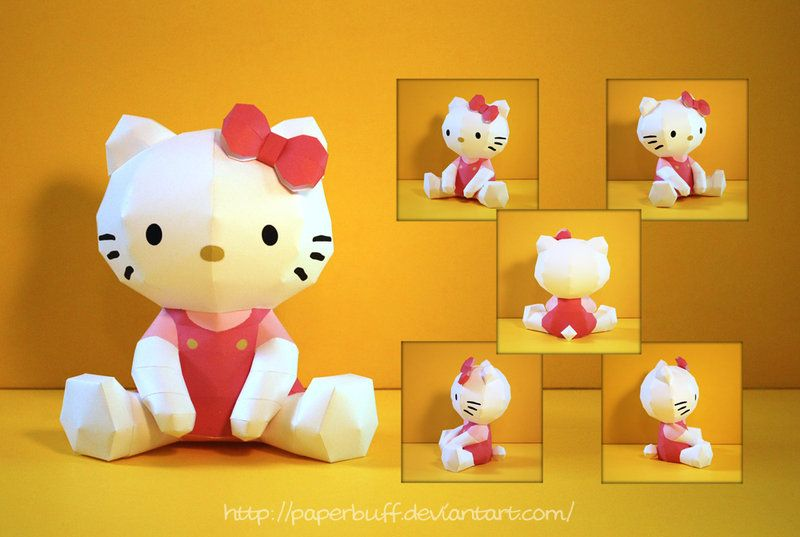28f1e396e PMF's Hello Kitty Papercraft by PaperBuff.deviantart.com on @deviantART