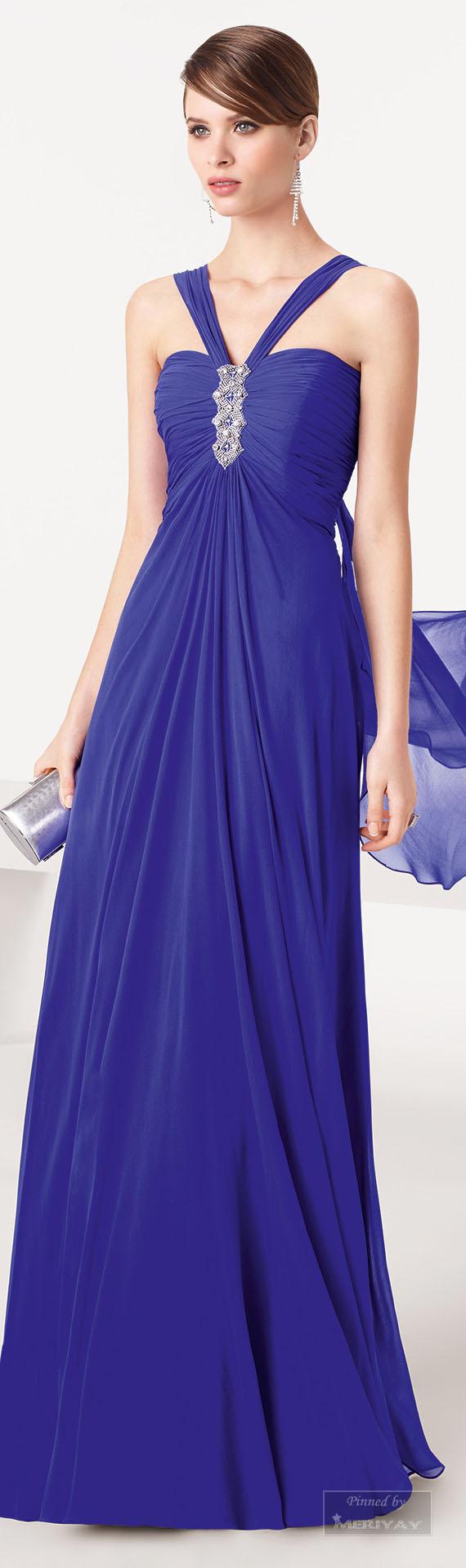 Aire Barcelona.2015. | moda largo azul | Pinterest | Azul ...