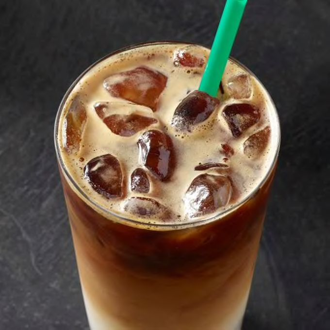 Check Out This Iced Vanilla Bean Coconutmilk Latte From