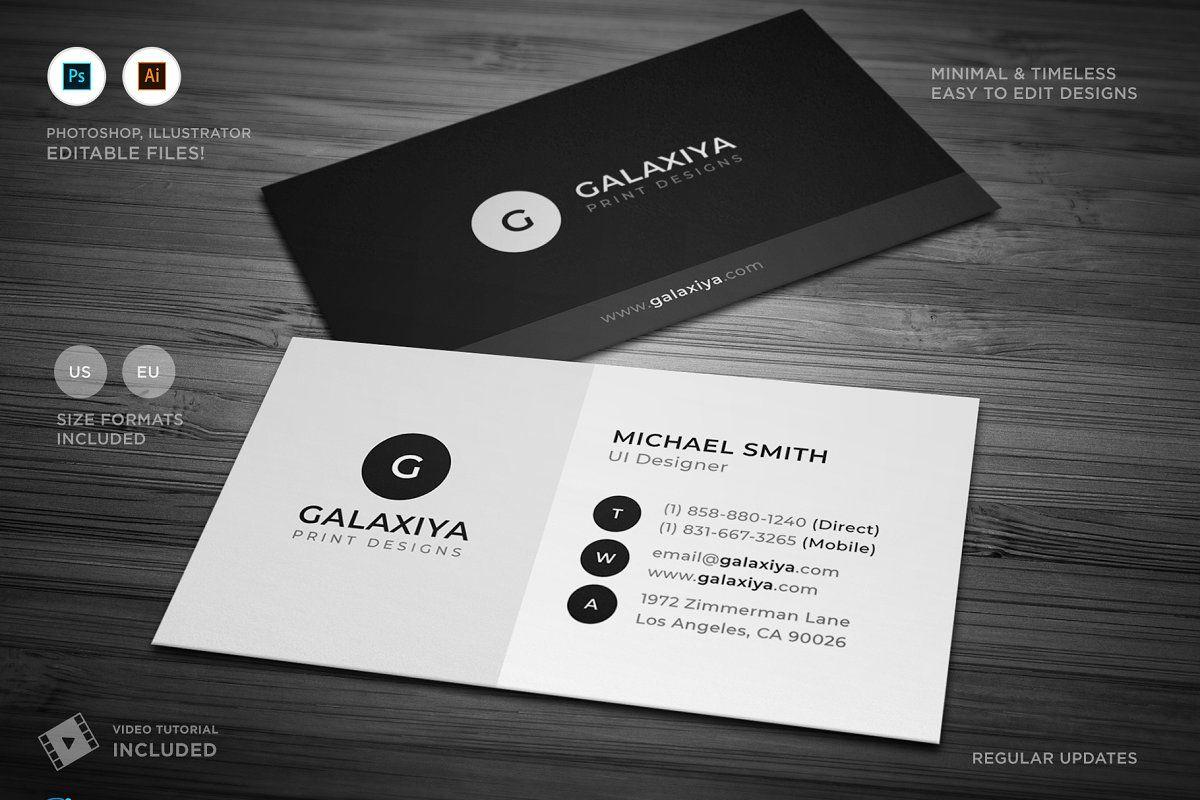 Minimal Corporate Business Card Corporate Business Card Business Cards Creative Templates Minimal Business Card