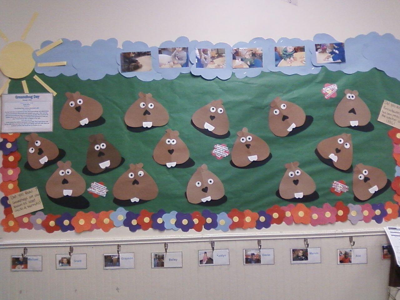 Groundhog Day Bulletin Board Childtime Groundhog