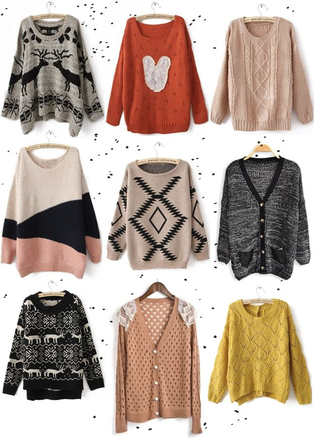 over sized! Sweaters, sweaters, and more sweaters. | My Style ...
