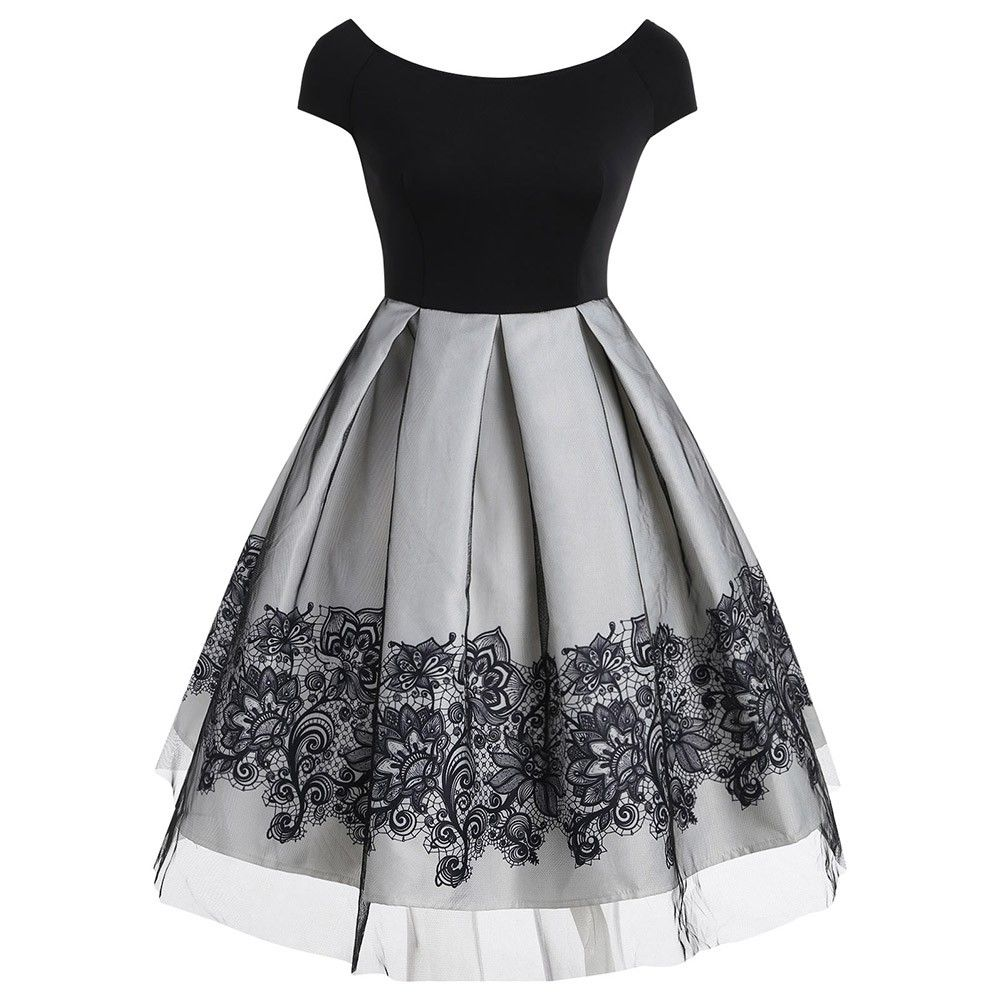 Short Sleeve Vintage Dress With Mesh White 3972266517 Size S Fancy Dresses Cute Dresses Vintage Dresses [ 1000 x 1000 Pixel ]