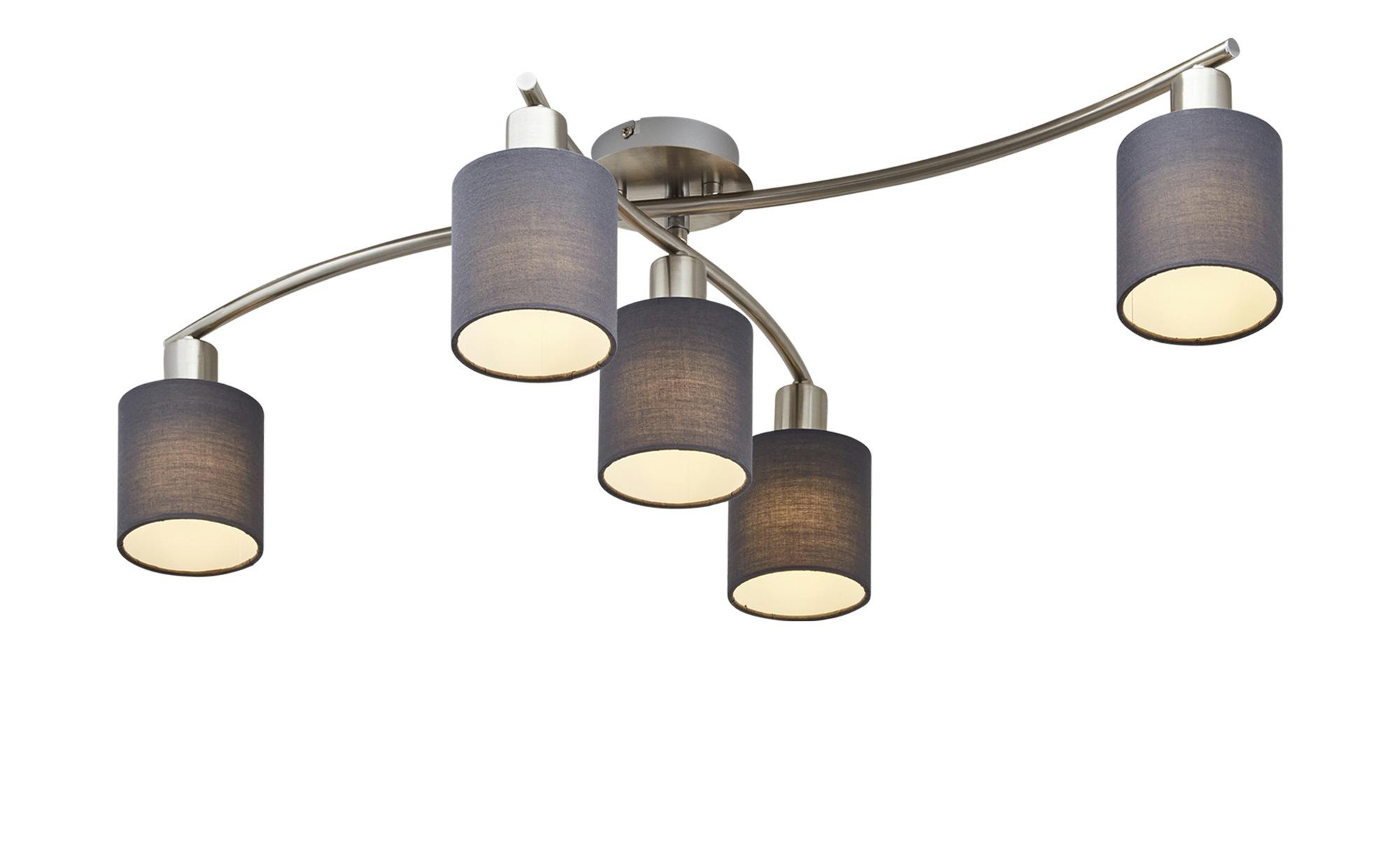 Trio Deckenleuchte 5 Flammig Stoffschirme Grau Silber Materialmix 10 Cm Hoffner Jetzt Bestellen Unter Https Ceiling Lights Modern Chandelier Ceiling