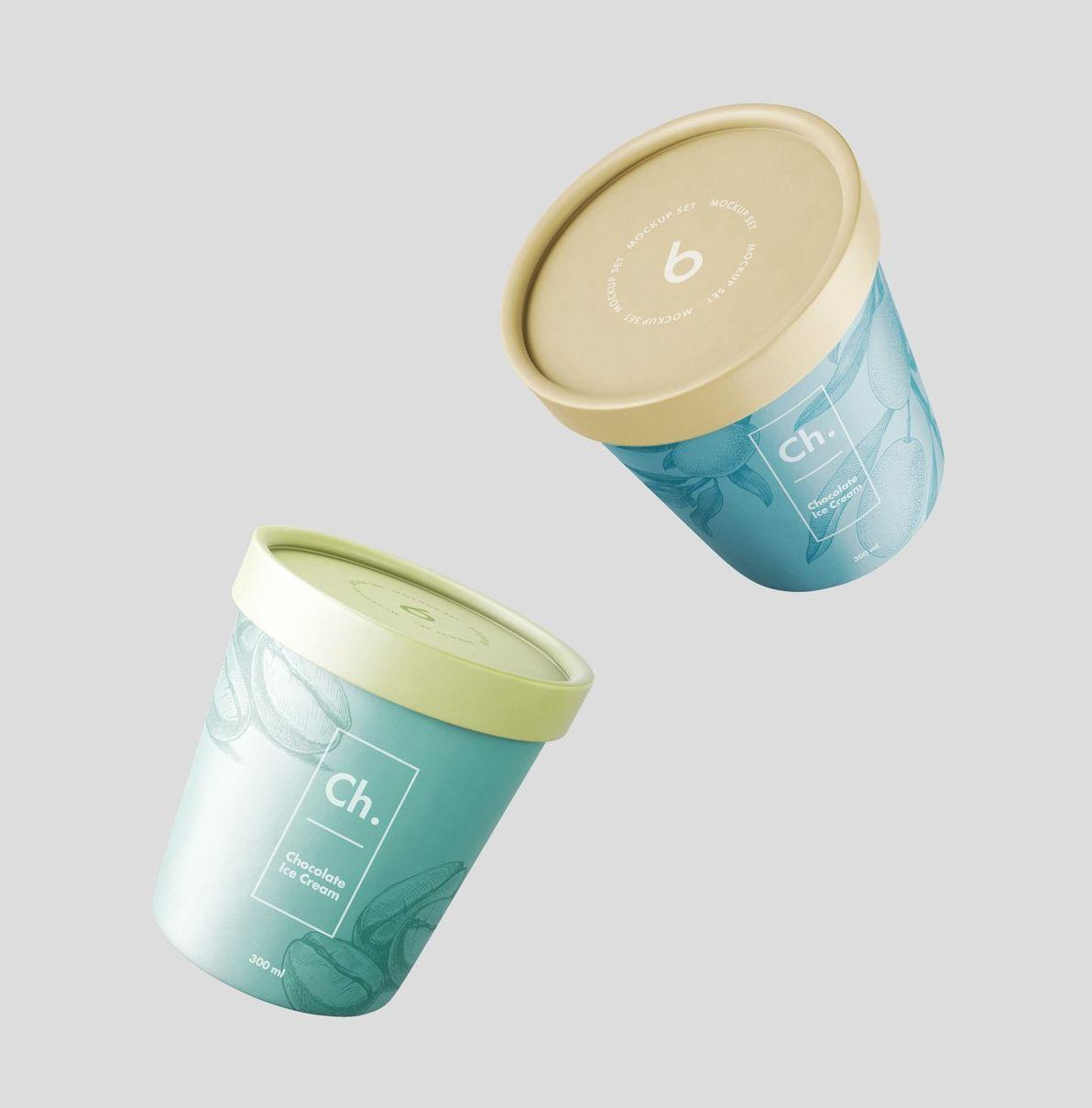Ice Cream Jar Mockup Ice Cream Ice Cream Packaging Jar