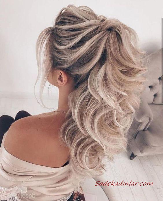 Gunluk Kombinler Icin 2020 Uzun Sac Modelleri Kurdela Ile Cift Bukulmus At Kuyrugu Sac In 2020 Loose Hairstyles Hair Extensions Best Ponytail Hairstyles