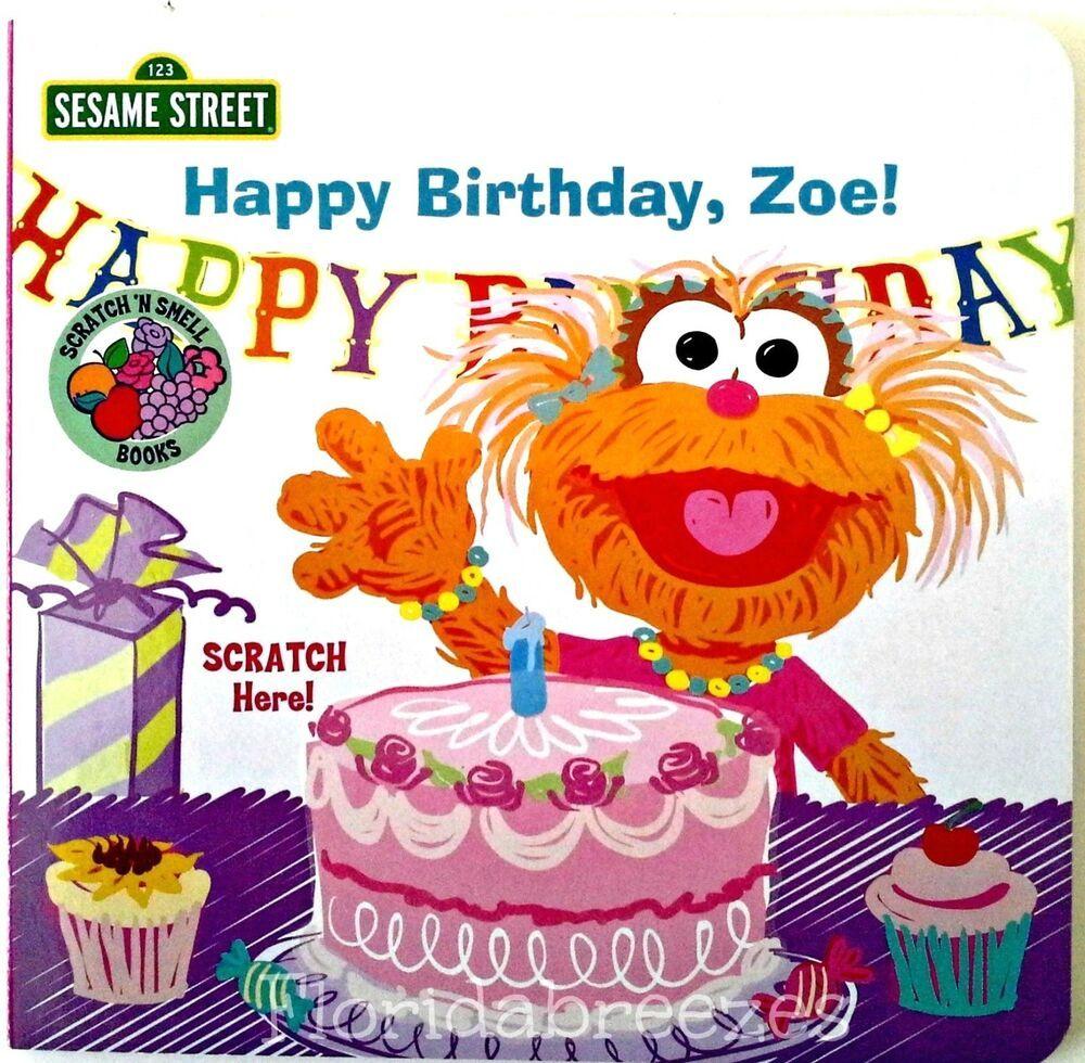 "Sesame Street SCRATCH 'n Smell ""HAPPY BIRTHDAY ZOE!"" Board"