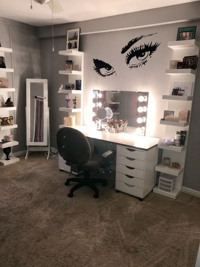 44 awesome teen girl bedroom ideas that are fun and cool 21 is part of Makeup rooms -  44 awesome teen girl bedroom ideas that are fun and cool 21 Related