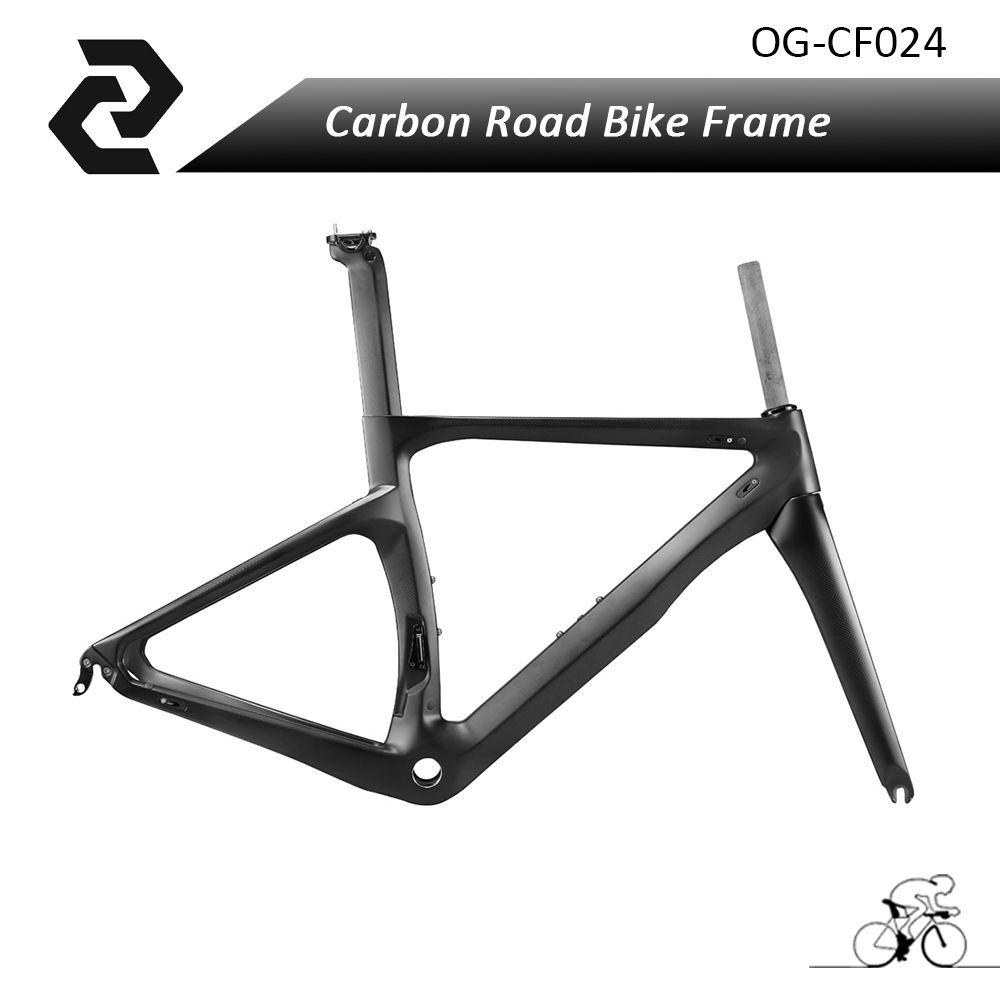 OG-EVKIN Carbon Fiber Road Bike Frame+Fork+Headset+Seat Post+Clamp ...