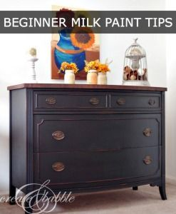 How To Tips For Beginners Using Milk Paint Use