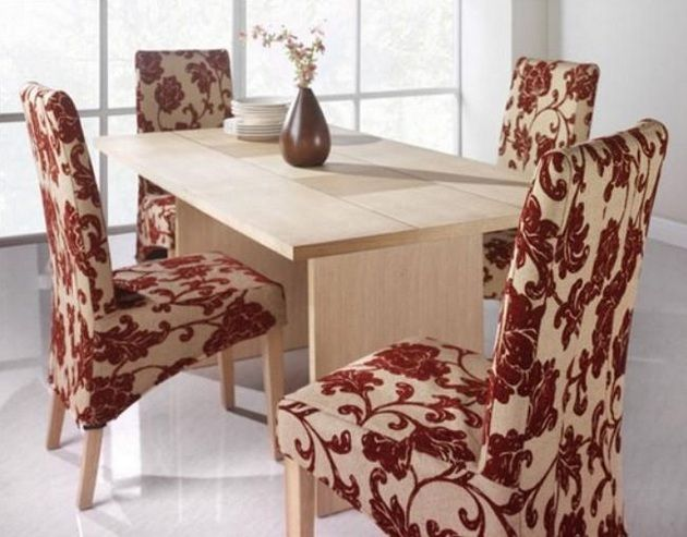 Dining Room Chair Fabric Ideas For Minimalist Small Dining Table |  Decolover.net