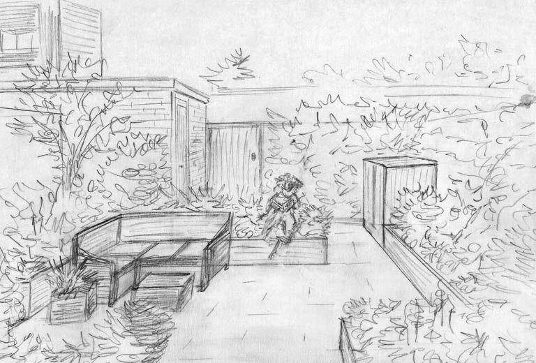 Sketch Courtyard Pinterest