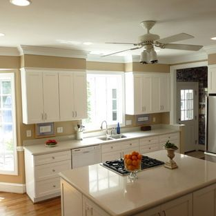 Soffit Over Window Design Ideas Pictures Remodel And Decor Kitchen Soffit Crown Molding Kitchen Kitchen Remodel Layout