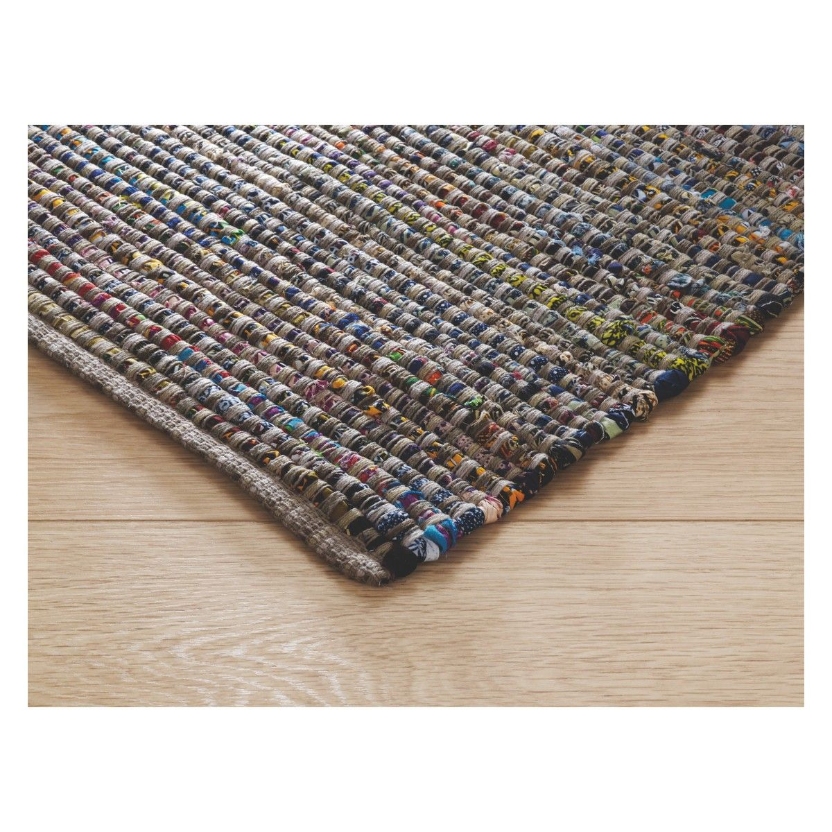 Harrow Large Multi Coloured Cotton Rug 170 X 240cm