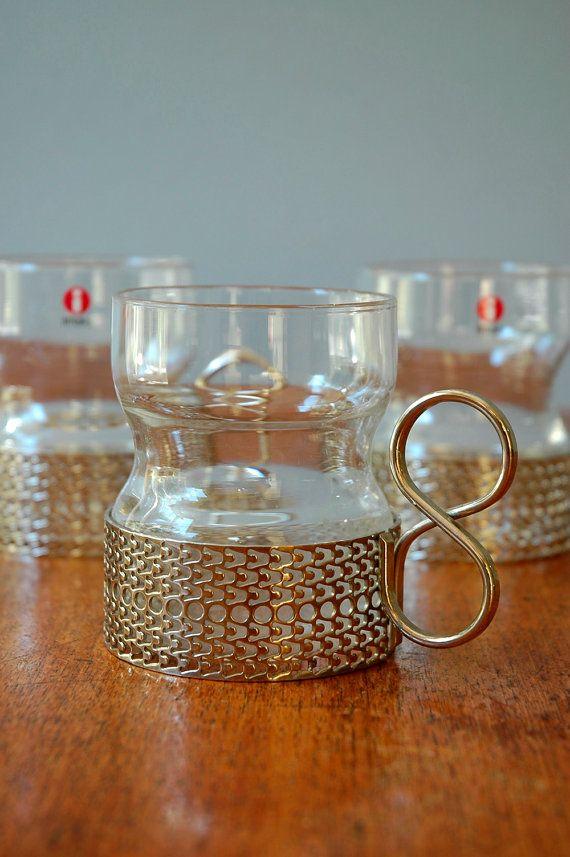 Iittala Tsaikka Sarpaneva Drinking Glasses Set Of Three Glass Tea Cups Nordic Design Glass