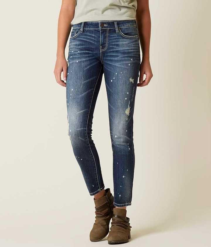 a6bbb99fbc37d BKE Stella Mid-Rise Ankle Skinny Stretch Jean
