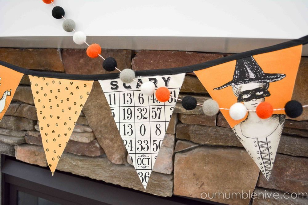 Halloween mantel ideas, Halloween Chalkboard, Halloween Home Tour