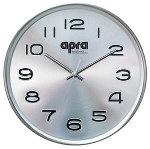 Stainless Steel Metal 12 Deluxe Wall Clock W 3d Numbers Clock Wall Clock Steel Metal