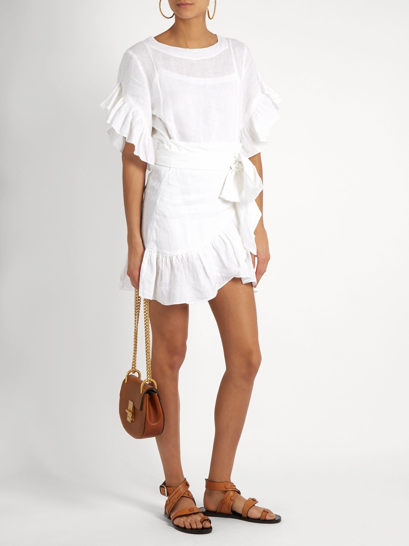 918c035b06 Delicia ruffled linen mini dress