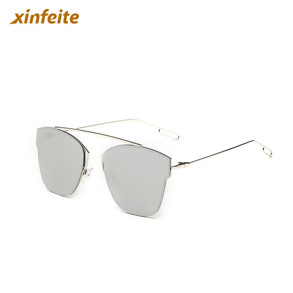 36a1fa38a2 Clear Lens Metal Frame Glasses Flat Sunglasses For Outdoor For Women Ladies   Affiliate