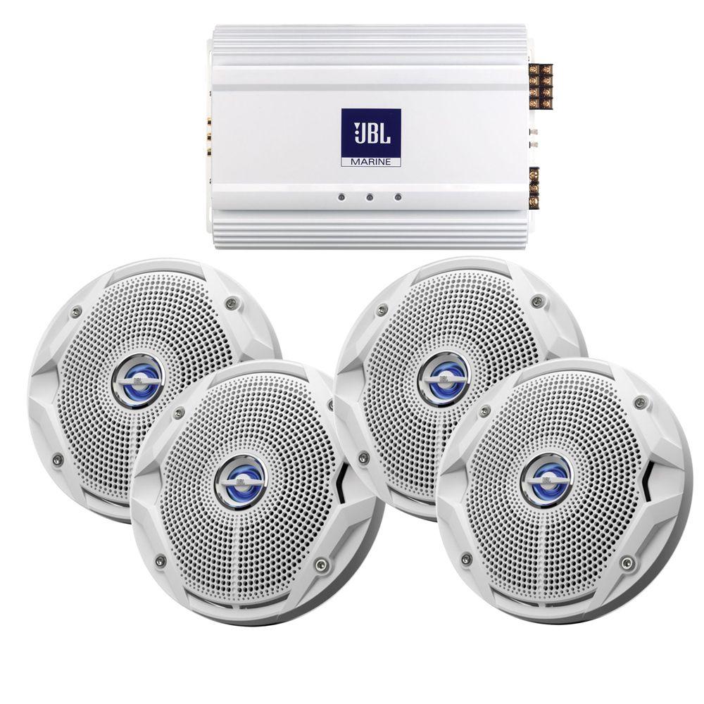 JBL MS6520 Speakers & MA6004 Amp Package (4) 6.5