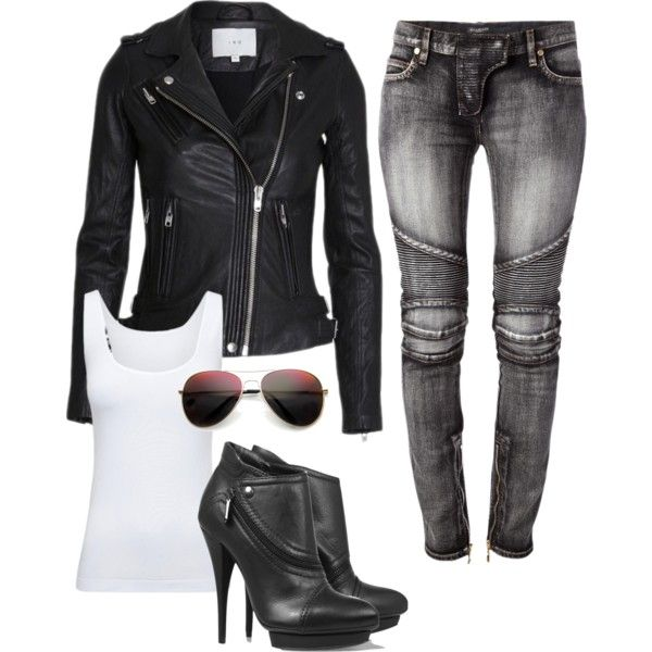Sexy biker outfit