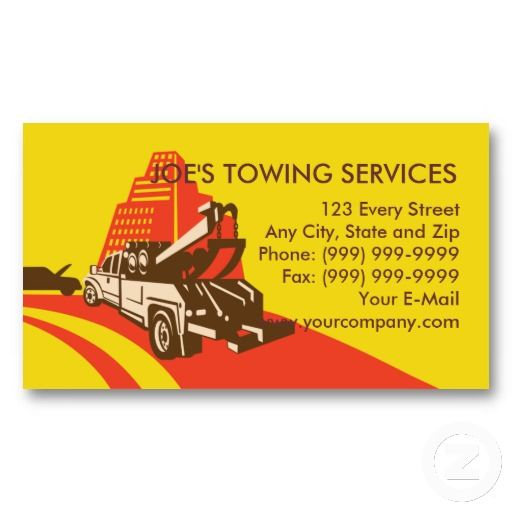 Pin On Tow Truck Business Cards