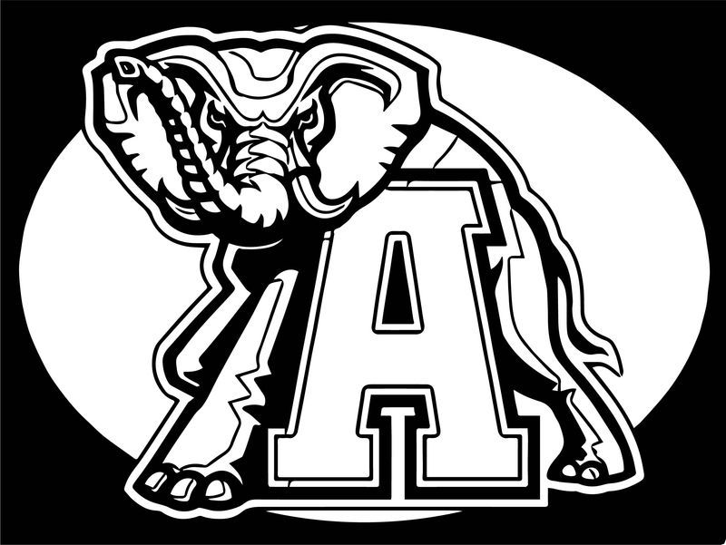 Alabama Crimson Tide Football Logo Coloring Page See The Category