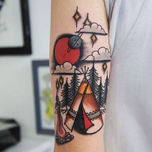 The Great Outdoors Tatspiration Traditional Tattoo American Tattoos Clever Tattoos