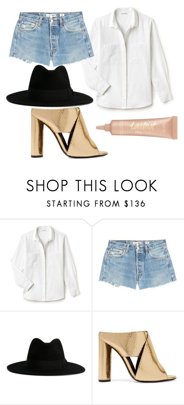 """Untitled #302"" by noor-raad ❤ liked on Polyvore featuring Lacoste, RE/DONE, Yves Saint Laurent, Tom Ford and tarte"