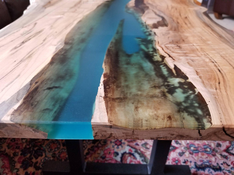 VENDIDO-arroyo mesa de café-mesa de café de borde en vivo-mesa   Etsy