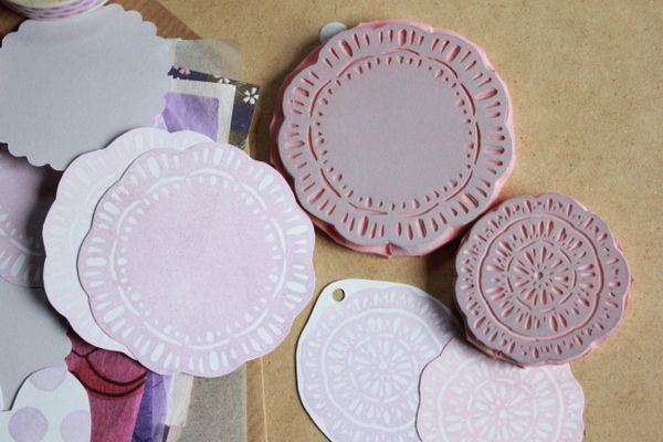 Doily stamps  by creating_impossible_gardens, via Flickr