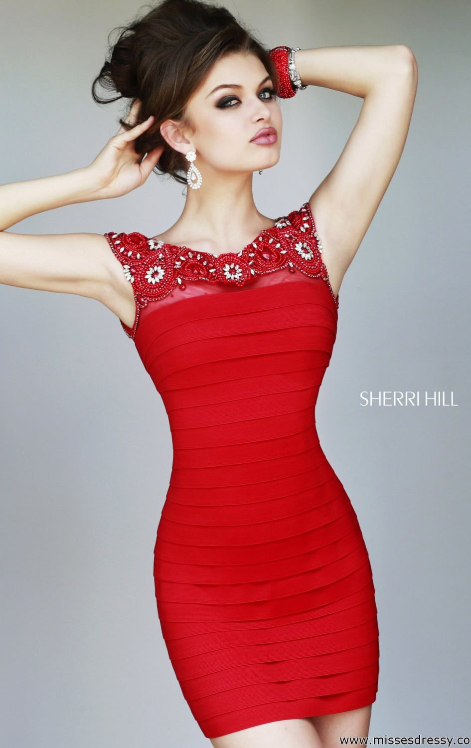 Embellished Cocktail Dress by Sherri Hill | Unique cocktail dresses ...