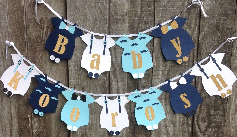 Baby Boy Shower Banner Bigote Y Arco Corbatas Banner Boy Etsy Baby Shower Banner Boy Baby Shower Onesie Baby Shower Banner