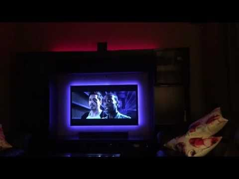 Philips Hue Behind Tv.How To Install Hue Lightstrips Behind Your Tv Hue Home