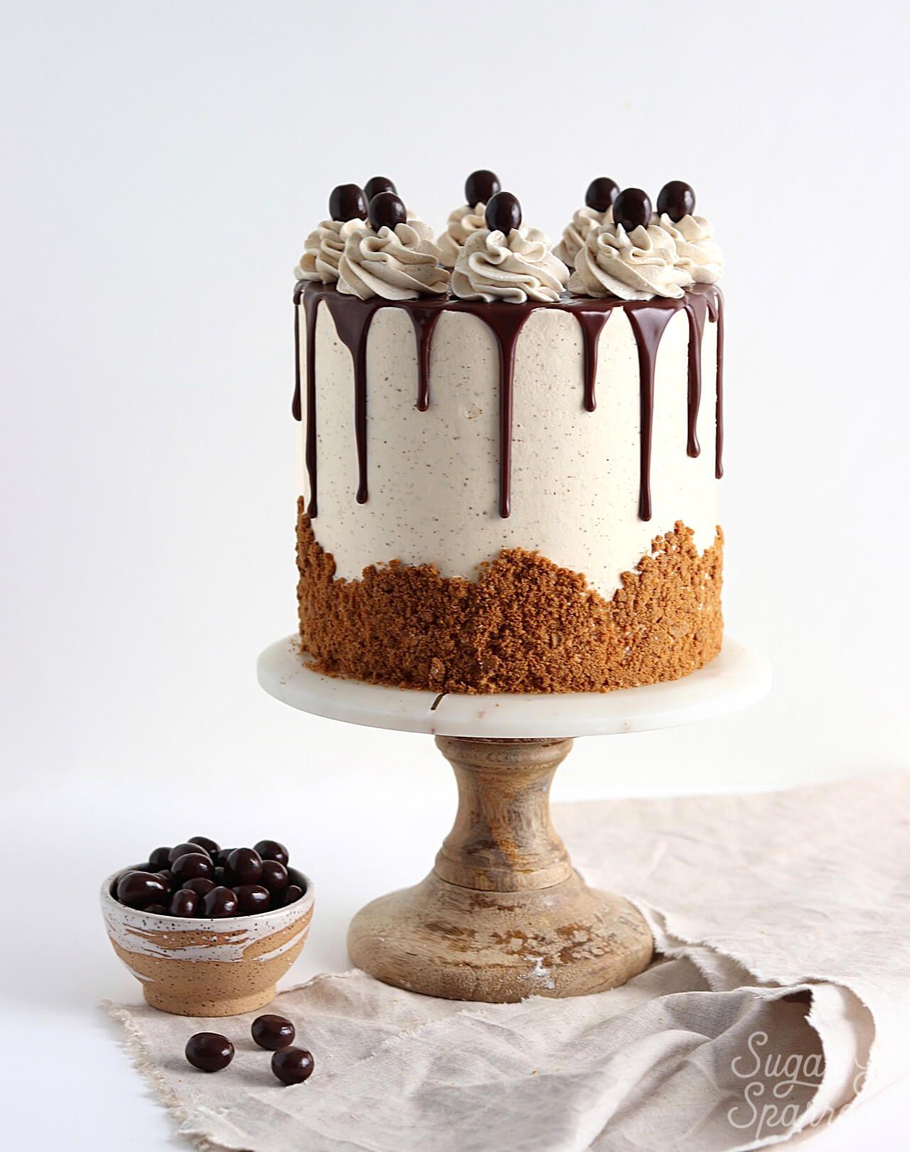 Coffee Layer Cake With Vanilla Espresso Buttercream