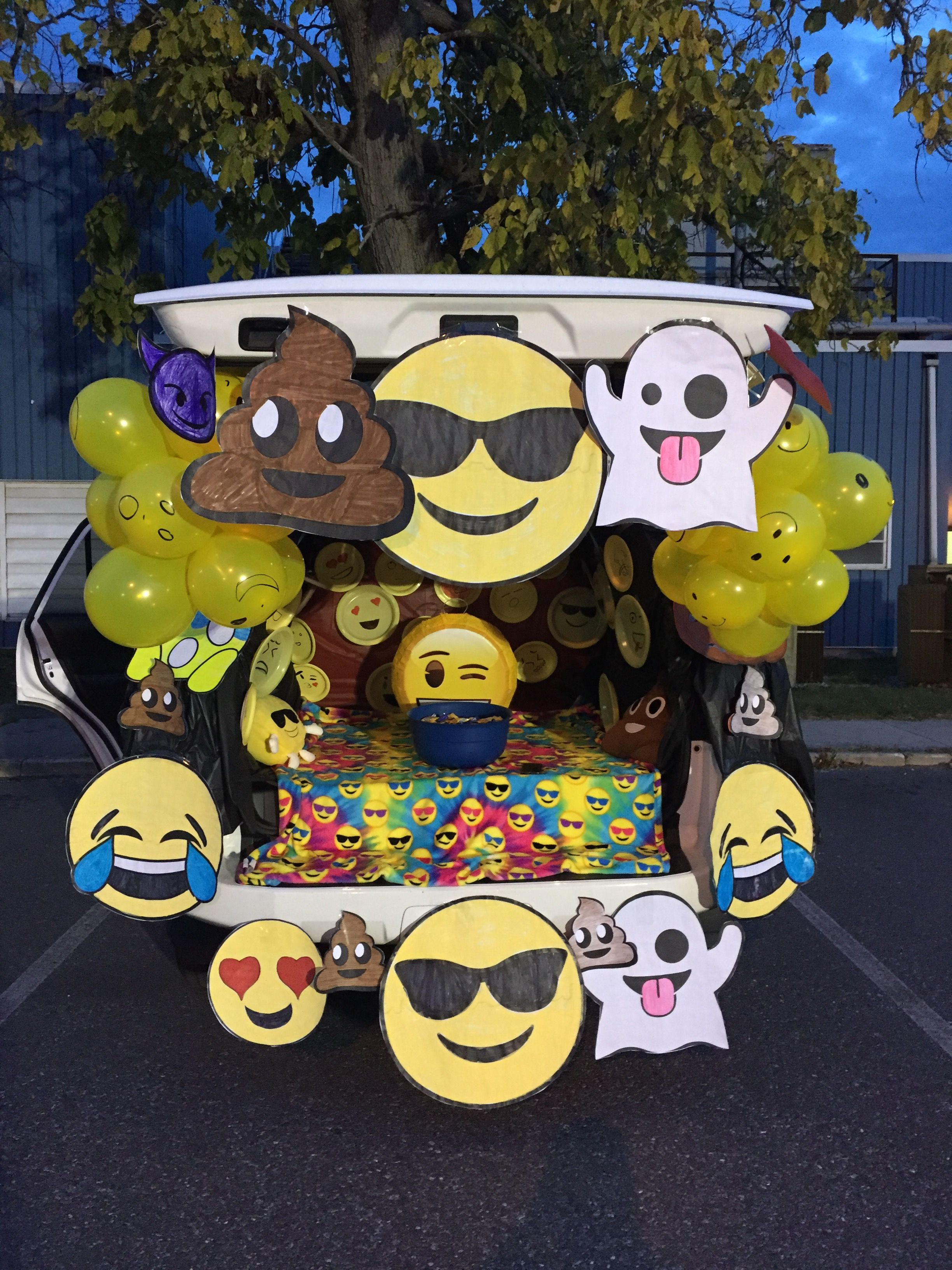 2019 Trunk Or Treat Ideas Emoji Trunk or Treat | Crafts in 2019 | Trunk or treat, Truck or