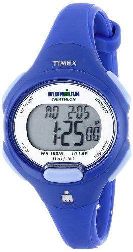 57cf7ac5383 Timex Women s T5K784 Ironman Traditional 10-Lap Mid-Size Blue Resin Strap  Watch -. Relógios EsportivosRelógios FemininosRelógios ...