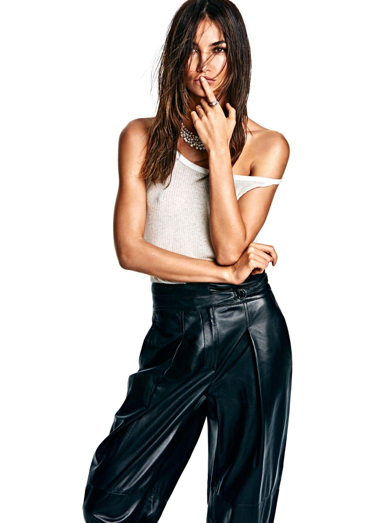 Lily Aldridge for Vogue Mexico - Haider Ackermann leather pants