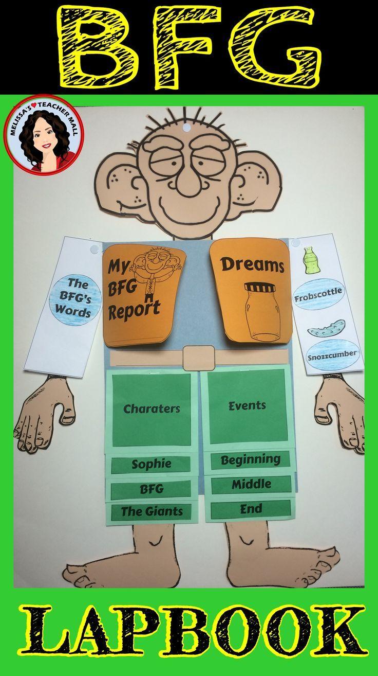 Worksheets Bfg Worksheets bfg lapbook book report books and teacher pay teachers report